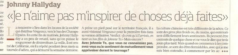 Johnny en couverture de Libération Numari56