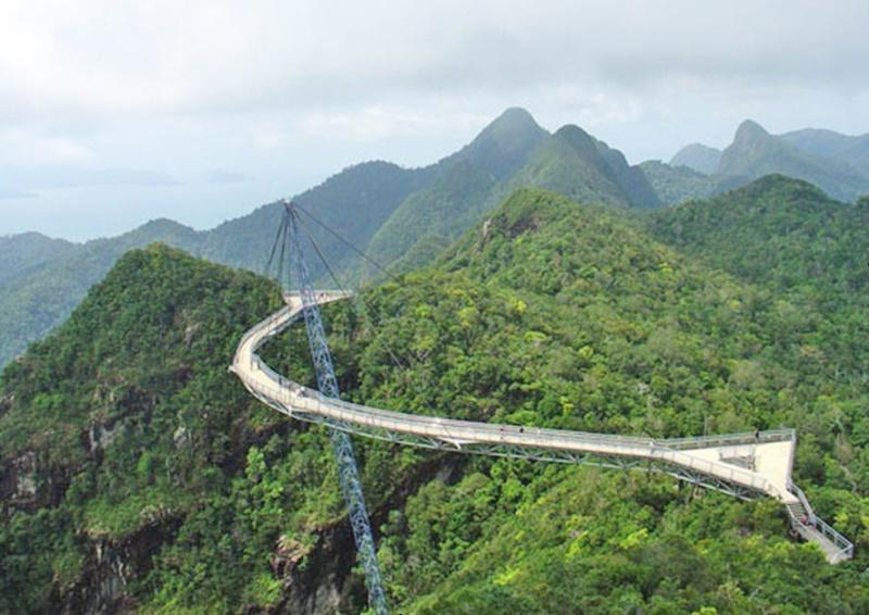 Skybridge, pont belvédère de Langkawi - Malaisie. 0110
