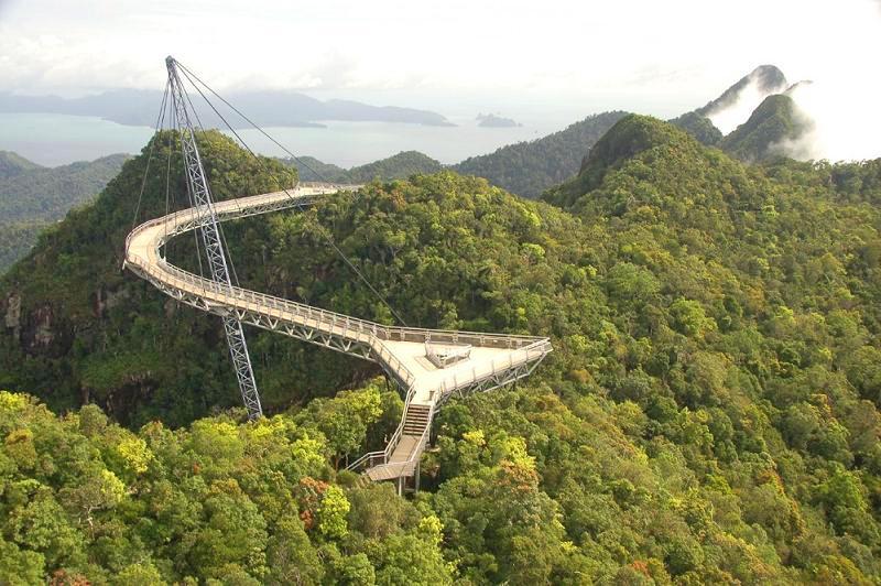 Skybridge, pont belvédère de Langkawi - Malaisie. 0610