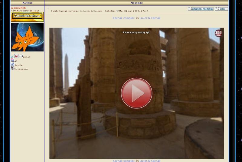 Photos 360° cities : comment les insérer dans un post??? [Astuces du forum] 08-12-10