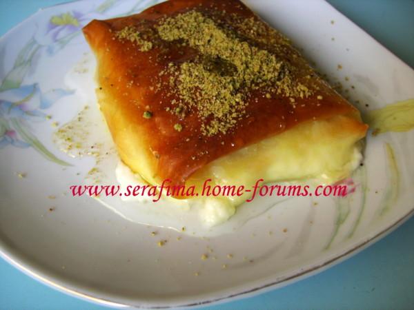 пирожки - Фатаир ма гишта. Пирожки из теста фило со сливками. Арабская кухня Imag0126