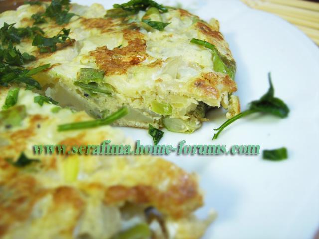 Испанская тортилья с картофелем и стручковой фасолью Imag0712