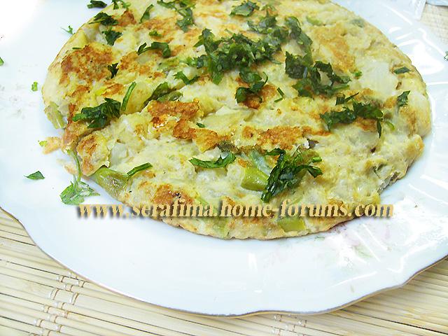 Испанская тортилья с картофелем и стручковой фасолью Imag0713