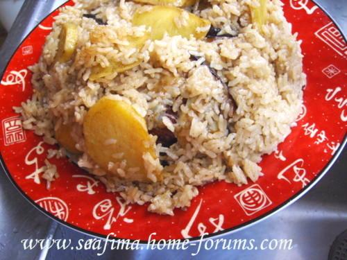 Маклюбе - Маклюбе (маглюбе) по-иордански (курица, баклажан, картофель, рис). Арабская кухня - Страница 2 Imag0721
