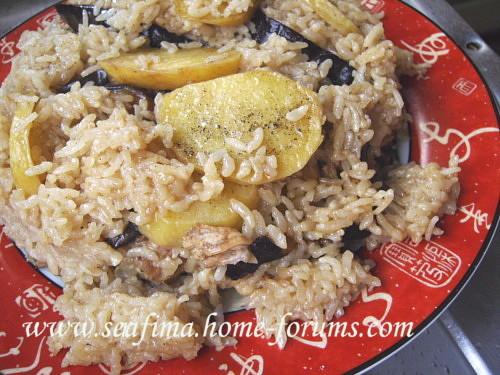 Маклюбе - Маклюбе (маглюбе) по-иордански (курица, баклажан, картофель, рис). Арабская кухня - Страница 2 Imag0722