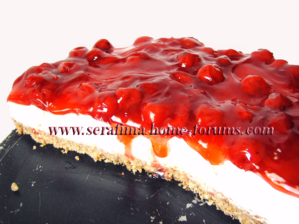 Вишнево-миндальный чизкейк. Cheese cake with cherry Imag0811