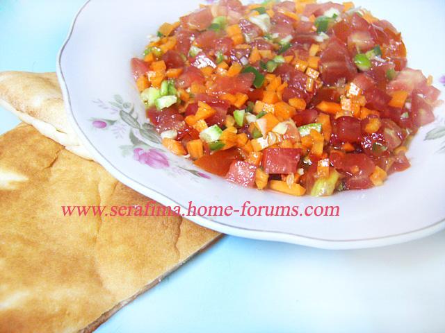 - Острый арабский салат, который обычно кушают питой Imag0819