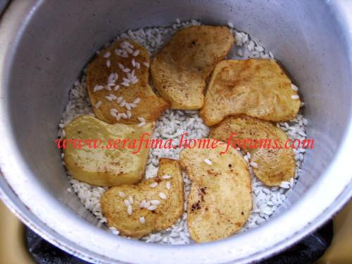 Маклюбе - Маклюбе (маглюбе) по-иордански (курица, баклажан, картофель, рис). Арабская кухня Imag0918