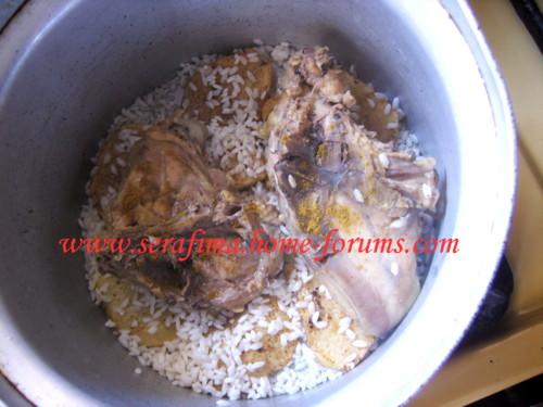 Маклюбе - Маклюбе (маглюбе) по-иордански (курица, баклажан, картофель, рис). Арабская кухня Imag0919
