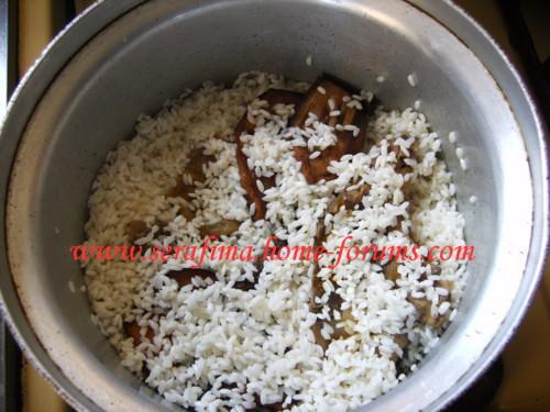 Маклюбе - Маклюбе (маглюбе) по-иордански (курица, баклажан, картофель, рис). Арабская кухня Imag0921