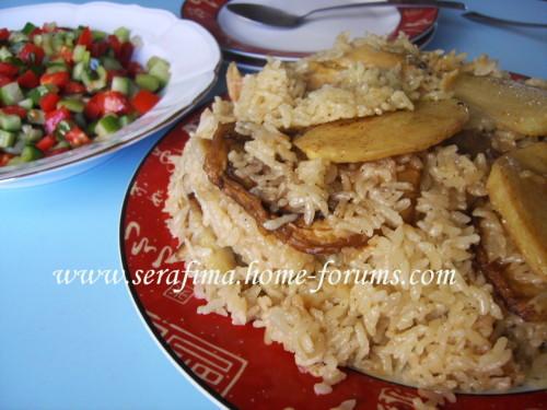 Маклюбе - Маклюбе (маглюбе) по-иордански (курица, баклажан, картофель, рис). Арабская кухня Imag0924