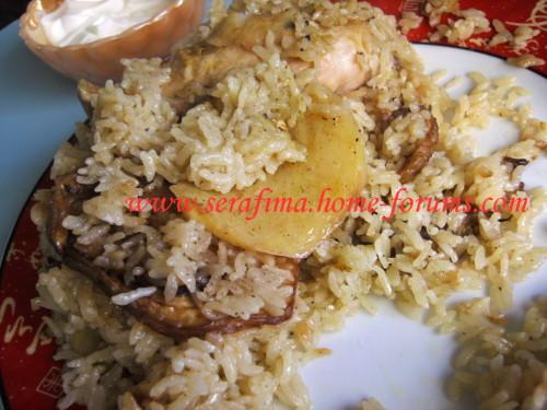 Маклюбе - Маклюбе (маглюбе) по-иордански (курица, баклажан, картофель, рис). Арабская кухня Imag0925