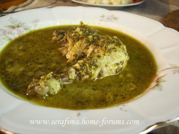 Курица с обалденным шпинатным соусом Imag1626