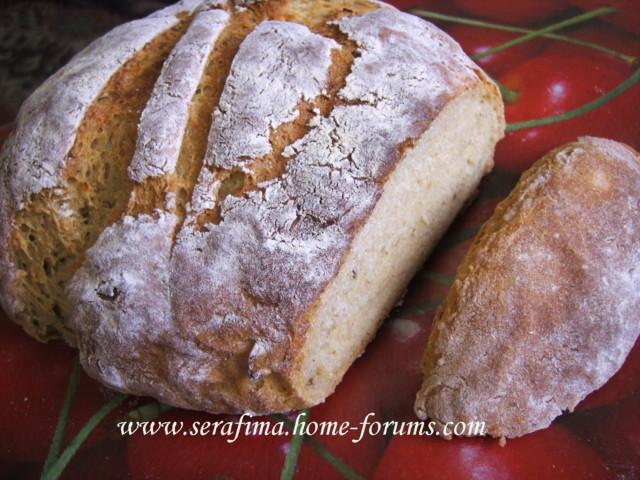 Домашний хлеб с цельнозерновой мукой, кумином и картофелем Imag1917