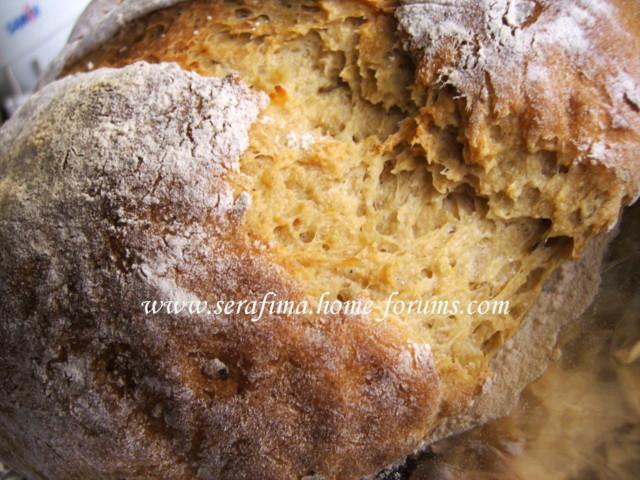 Домашний хлеб с цельнозерновой мукой, кумином и картофелем Imag1918
