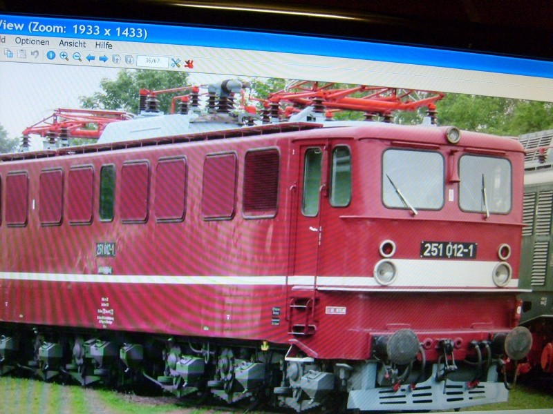 E-Lok  Baureihe 251 Maßstab 1:25 Eigenbau gebaut von klebegold 67k10