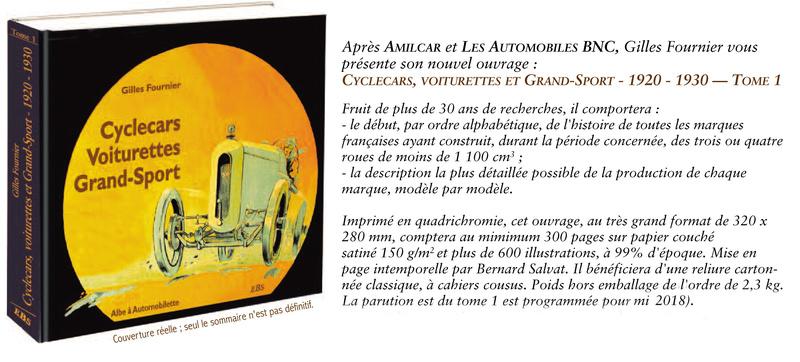 Livre Cyclecars Voiturettes Grand-Sport par Gilles Fournier Livre10
