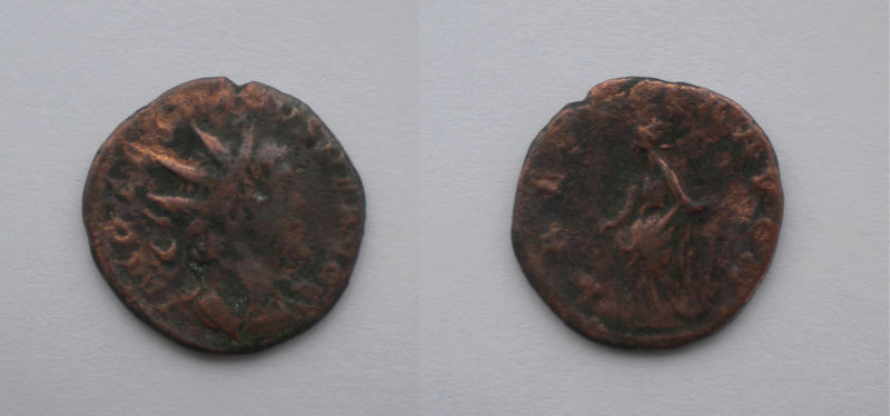 Antoniniano de Tétrico I. LAETITIA AVG N. Alegría a izq. Colonia Moneda10