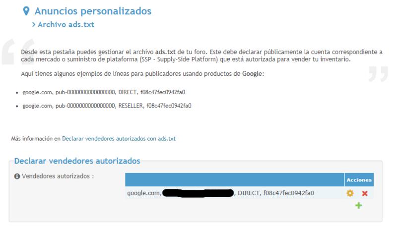 Información del archivo ads.txt no puede ser leida Config10