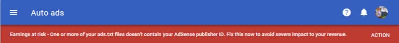 Información del archivo ads.txt no puede ser leida Error_10