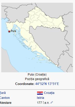 Un vechi si frumos oras din Croatia. Pula10