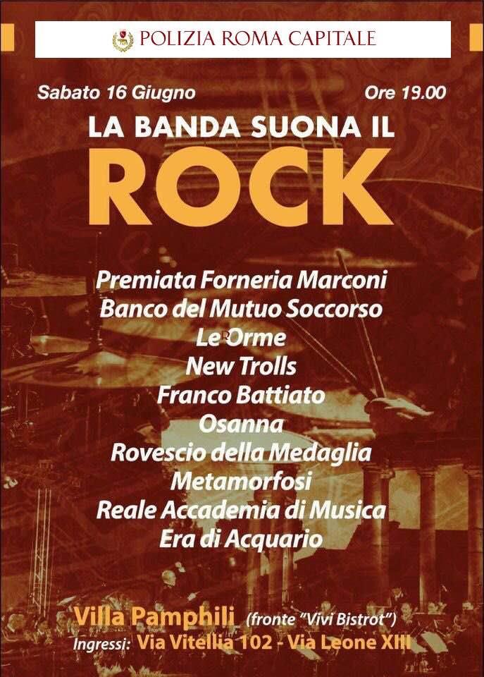 La banda suona il rock. 16 giugno a Villa Pamphili, Roma La-ban10
