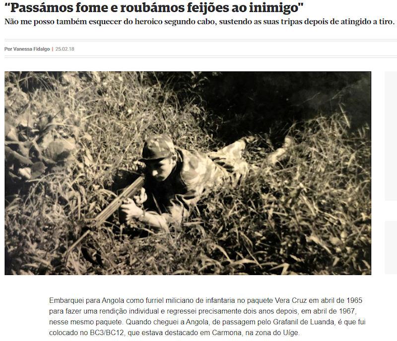 """""""Passámos fome e roubámos feijões ao inimigo"""", in revista «Domingo», do CM, de 25Fev2018 01_ima10"""