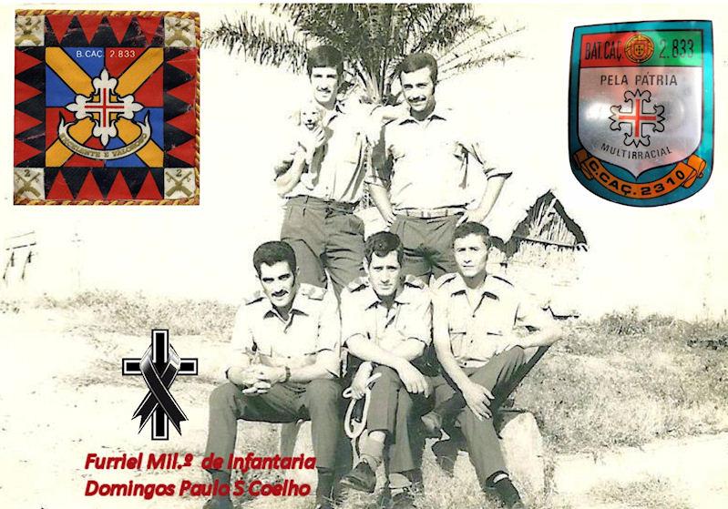 Faleceu o veterano Domingos Paulo S Coelho, Furriel Mil.º de Infantaria, da CCac2310/BCac2833 02domi12