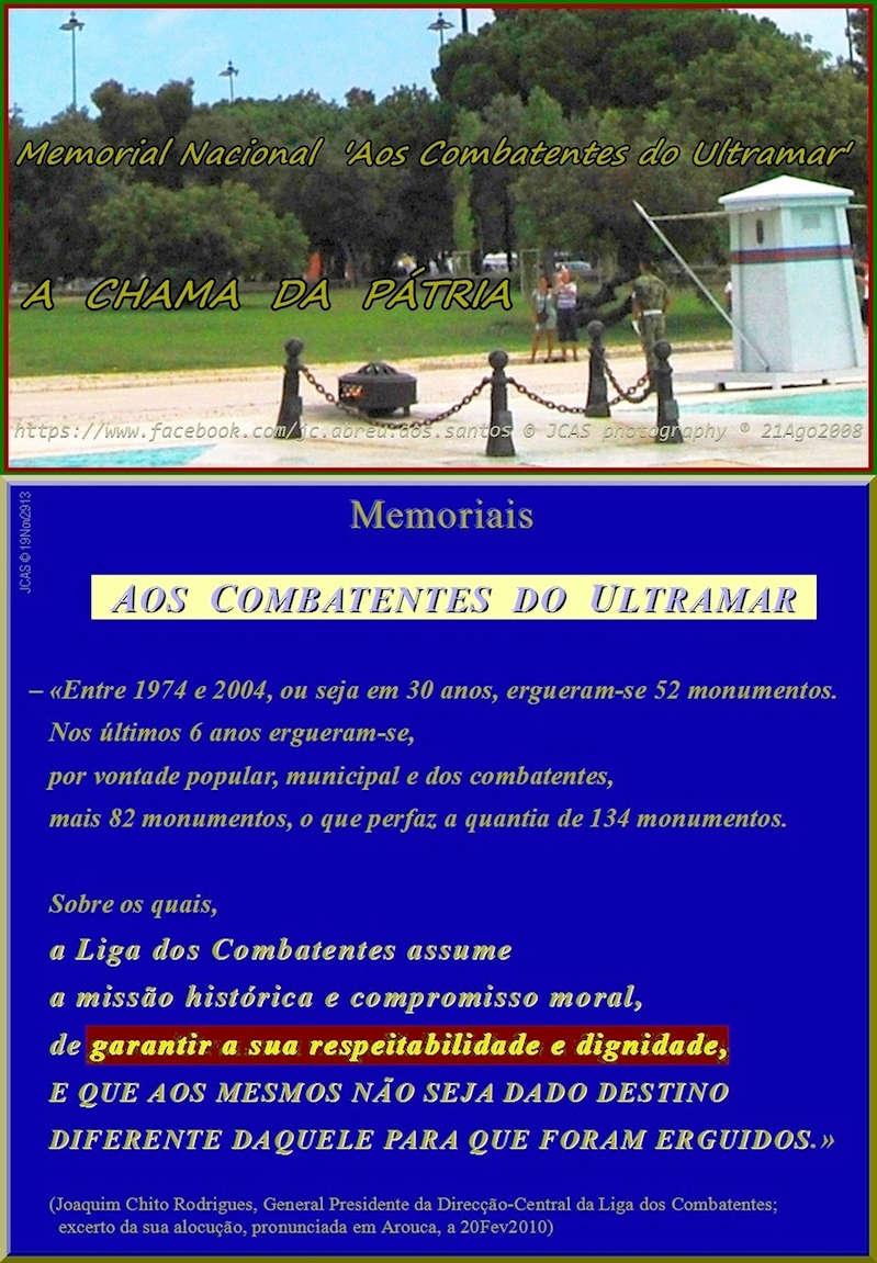 Pseudo Chama da Pátria, enxertada na base do Memorial Nacional Aos Combatentes do Ultramar 20100210