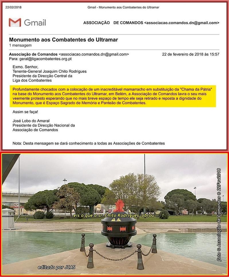 Pseudo Chama da Pátria, enxertada na base do Memorial Nacional Aos Combatentes do Ultramar 20180210