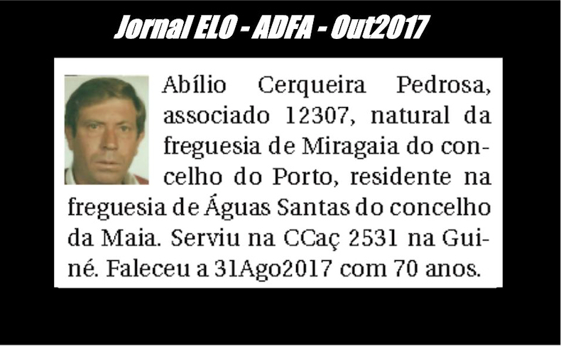 Notas de óbito publicadas no jornal «ELO», da ADFA, de Outubro de 2017 Abilio11