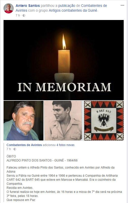 Faleceu o veterano Alfredo Pinto dos Santos, Da CArt642/BArt645 - 15Jan2018 Alfred10