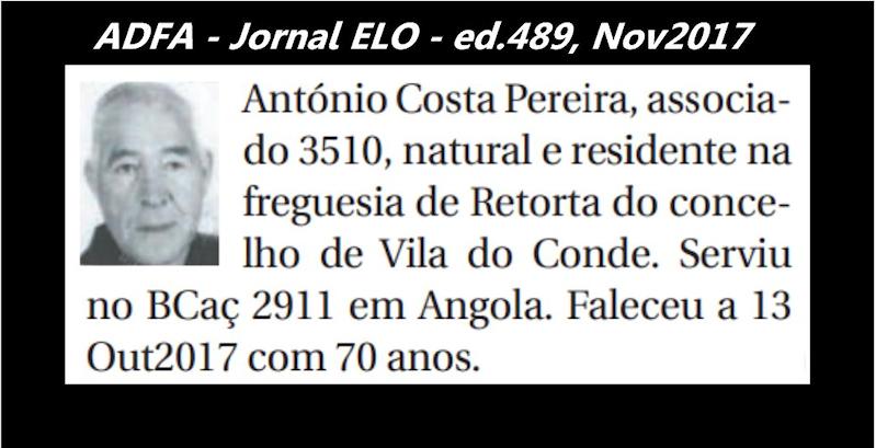 Notas de óbito publicadas no jornal «ELO», da ADFA, de Novembro de 2017 Antoni12