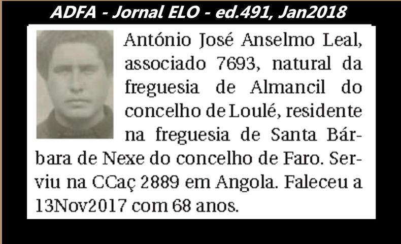 Notas de óbito publicadas no jornal «ELO», da ADFA, Janeiro e Fevereiro de 2018 Antoni13
