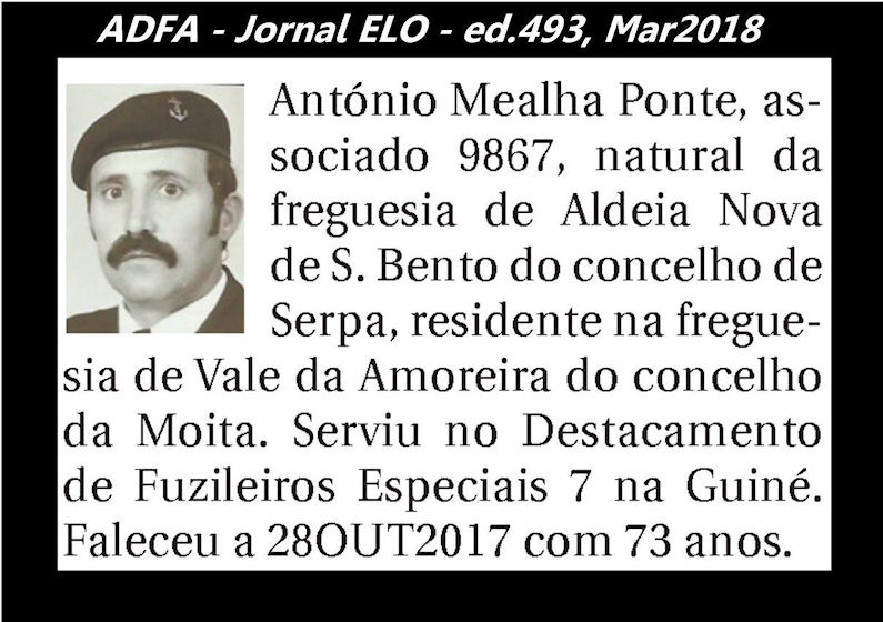 Notas de óbito publicadas no jornal «ELO», da ADFA, Março de 2018 Antoni17