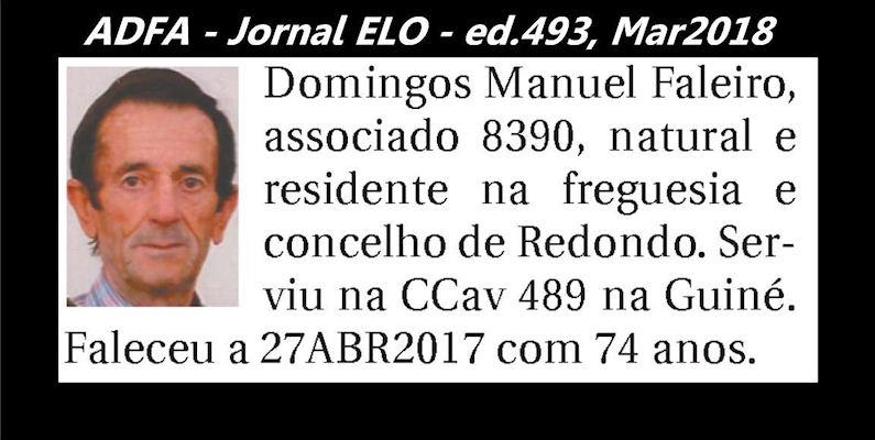 Notas de óbito publicadas no jornal «ELO», da ADFA, Março de 2018 Doming10