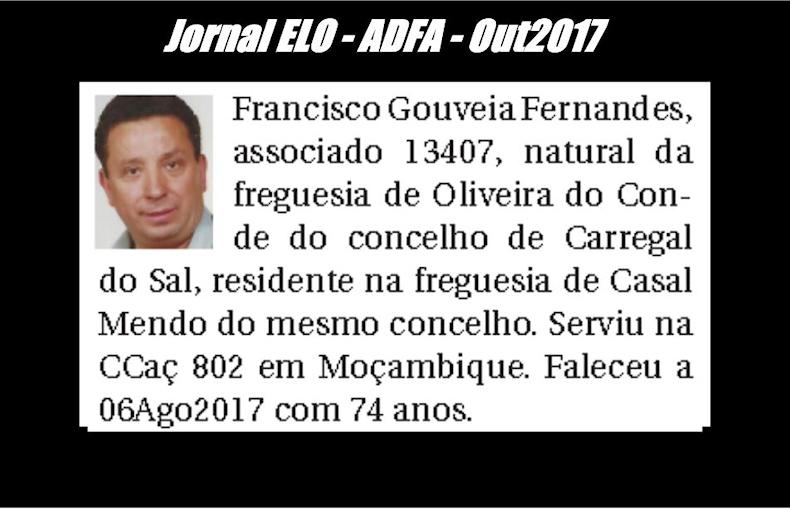 Notas de óbito publicadas no jornal «ELO», da ADFA, de Outubro de 2017 Franci11