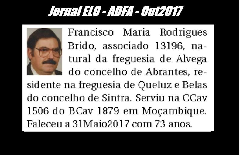 Notas de óbito publicadas no jornal «ELO», da ADFA, de Outubro de 2017 Franci12