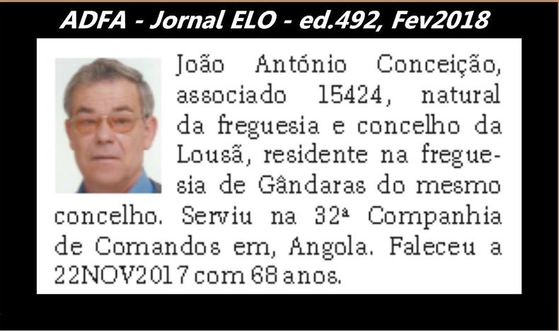 Notas de óbito publicadas no jornal «ELO», da ADFA, Janeiro e Fevereiro de 2018 Joao_a10