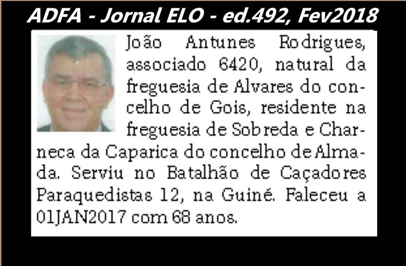 Notas de óbito publicadas no jornal «ELO», da ADFA, Janeiro e Fevereiro de 2018 Joao_a11