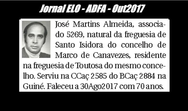 Notas de óbito publicadas no jornal «ELO», da ADFA, de Outubro de 2017 Josema11