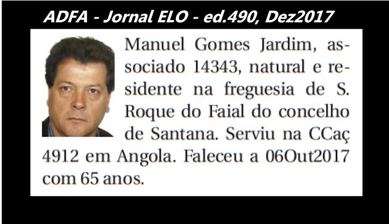 Notas de óbito publicadas no jornal «ELO», da ADFA, de Dezembro de 2017 Manuel11