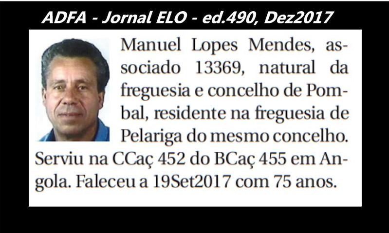 Notas de óbito publicadas no jornal «ELO», da ADFA, de Dezembro de 2017 Manuel12
