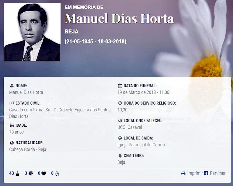Faleceu o veterano Manuel Dias Horta, Alferes Mil. de Artilharia, da CArt1726/BArt1922 - 18Mar2018 Manuel17