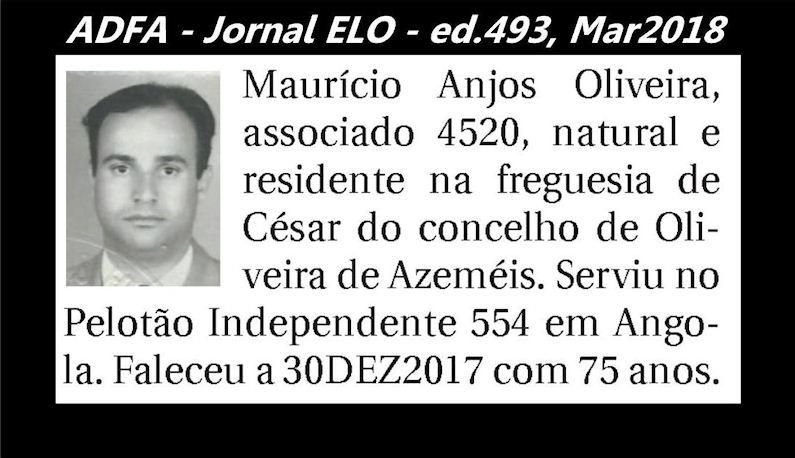 Notas de óbito publicadas no jornal «ELO», da ADFA, Março de 2018 Mauric10