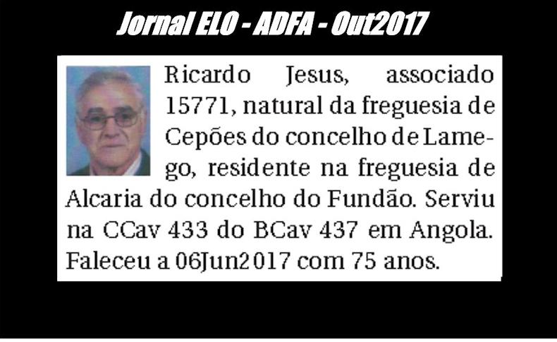 Notas de óbito publicadas no jornal «ELO», da ADFA, de Outubro de 2017 Ricard11