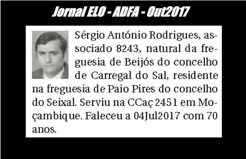Notas de óbito publicadas no jornal «ELO», da ADFA, de Outubro de 2017 Sergio11