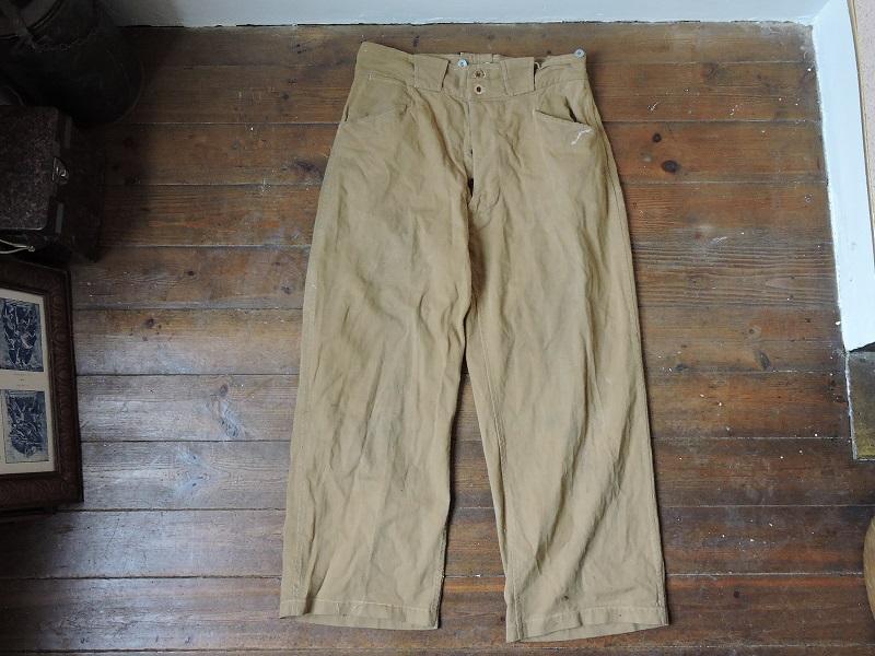 Pantalon droit de toile français à identifier Dscn5614