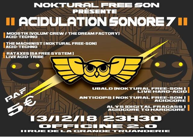 Acidulation sonore: 13/12/18 - L'Officine 2.0 Acidul10