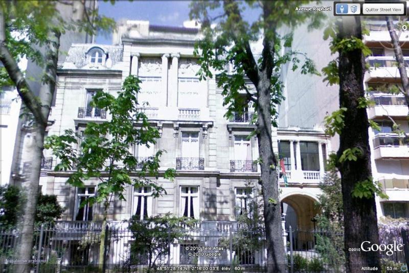 Les ambassades étrangères en France vues depuis Google Earth Afghan10